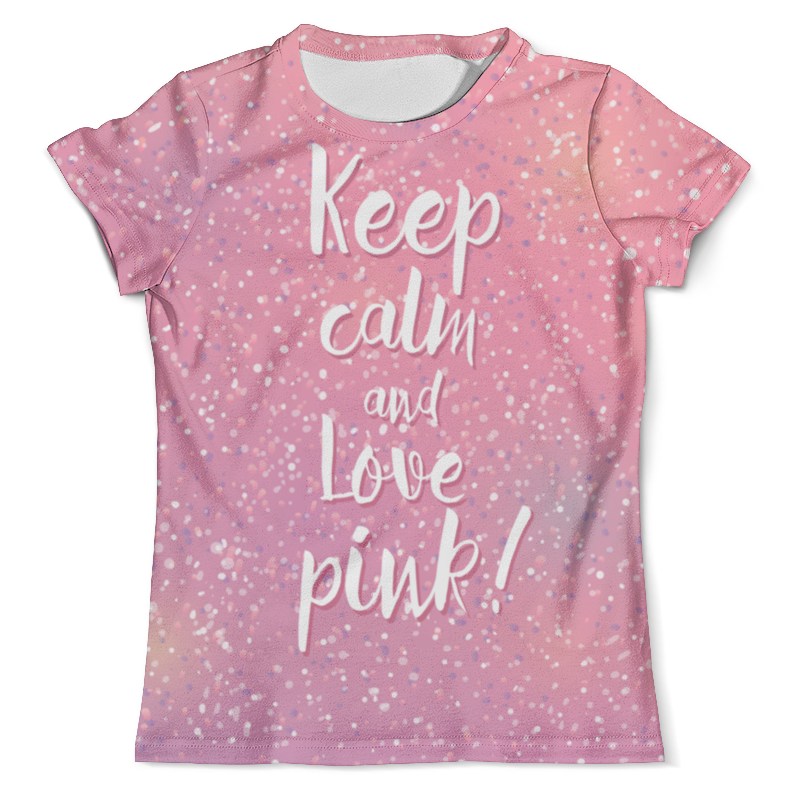 Футболка с полной запечаткой (мужская) Printio Keep calm and love pink худи print bar keep calm and love