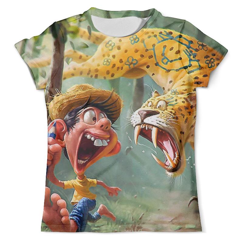 Футболка с полной запечаткой (мужская) Printio Мальчик и тигр футболка с полной запечаткой мужская printio тигр и вода
