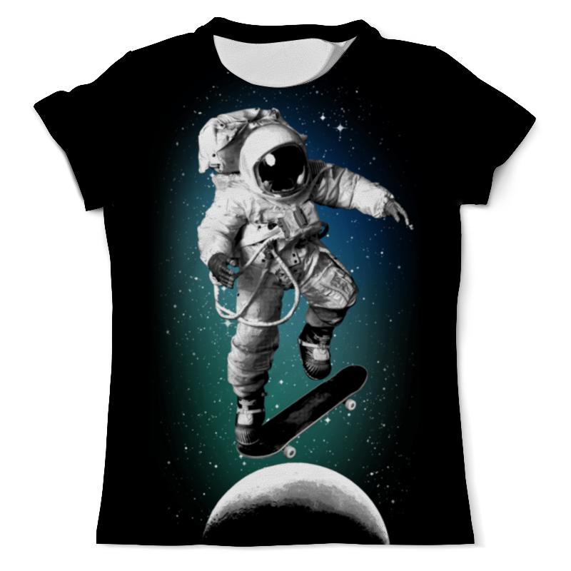 Printio Космический скейтбордист футболка с полной запечаткой мужская printio космический экстрим