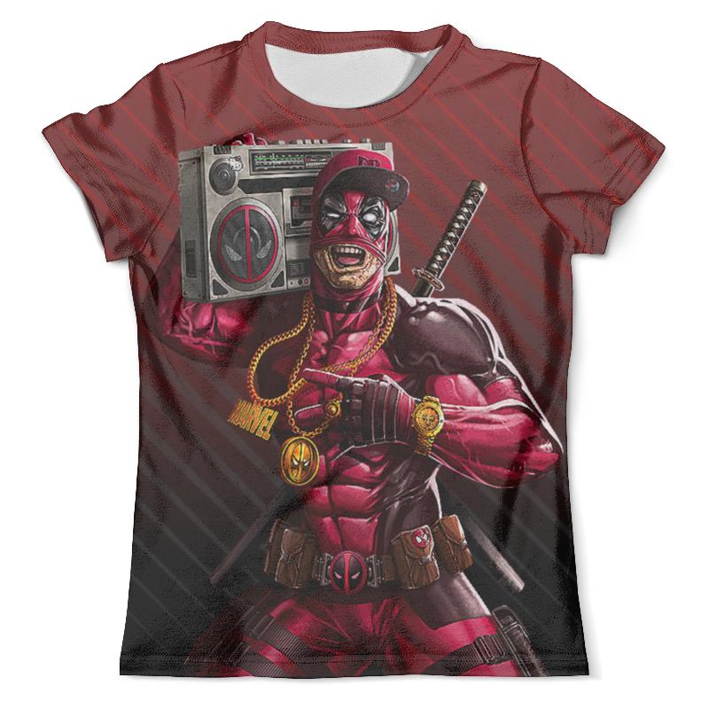 Футболка с полной запечаткой (мужская) Printio Deadpool design цены