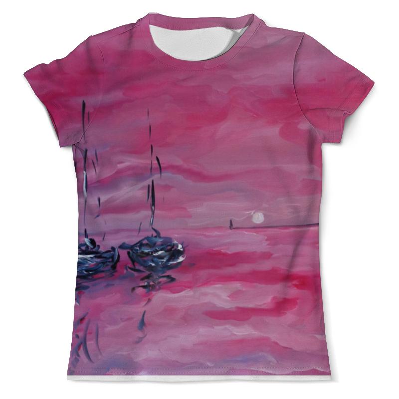 Фото - Футболка с полной запечаткой (мужская) Printio Розовый закат футболка с полной запечаткой мужская printio розовый закат