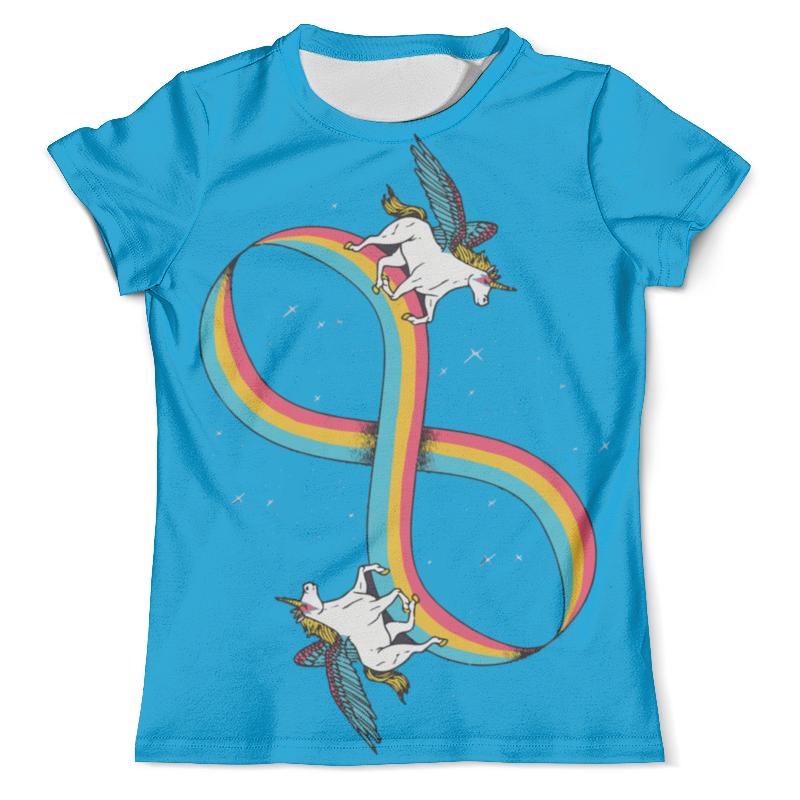 Футболка с полной запечаткой (мужская) Printio Infinite unicorn / бесконечный единорог футболка с полной запечаткой женская printio unicorn единорог