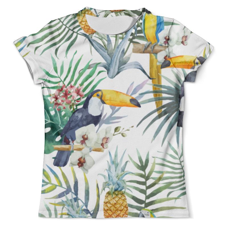 Футболка с полной запечаткой (мужская) Printio Пеликан и ананасы футболка с полной запечаткой мужская printio и по