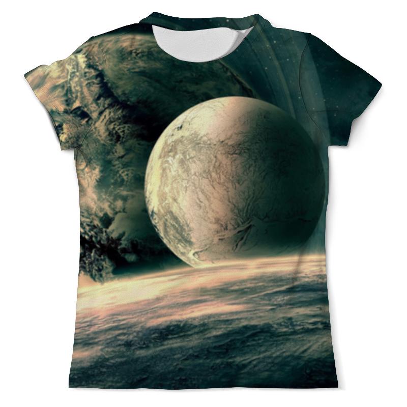 Футболка с полной запечаткой (мужская) Printio Космическое путешествие жуков и поехали мое первое космическое путешествие