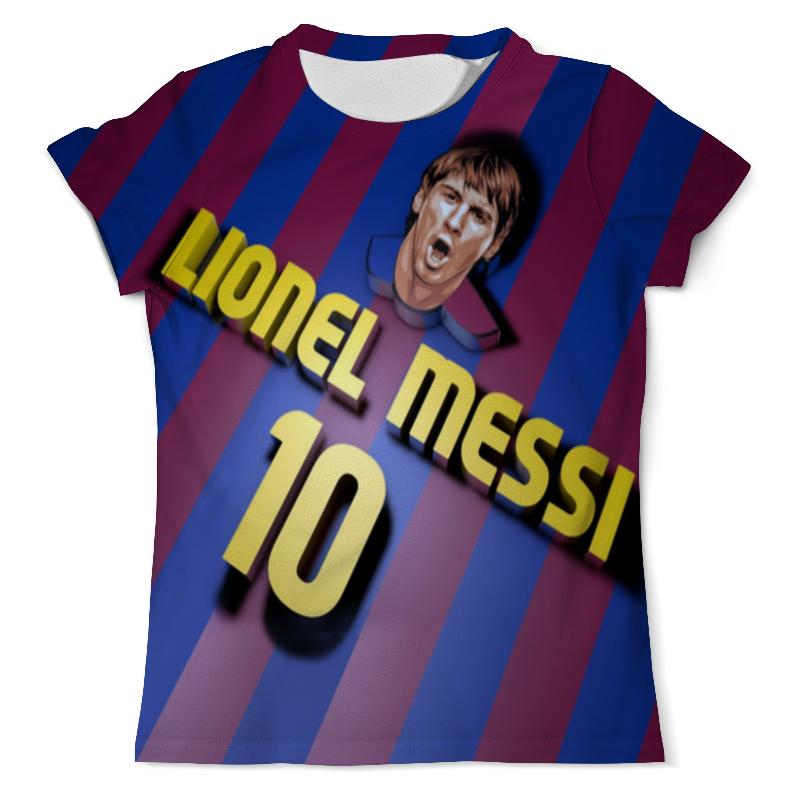 Футболка с полной запечаткой (мужская) Printio Lionel messi (2) цена и фото