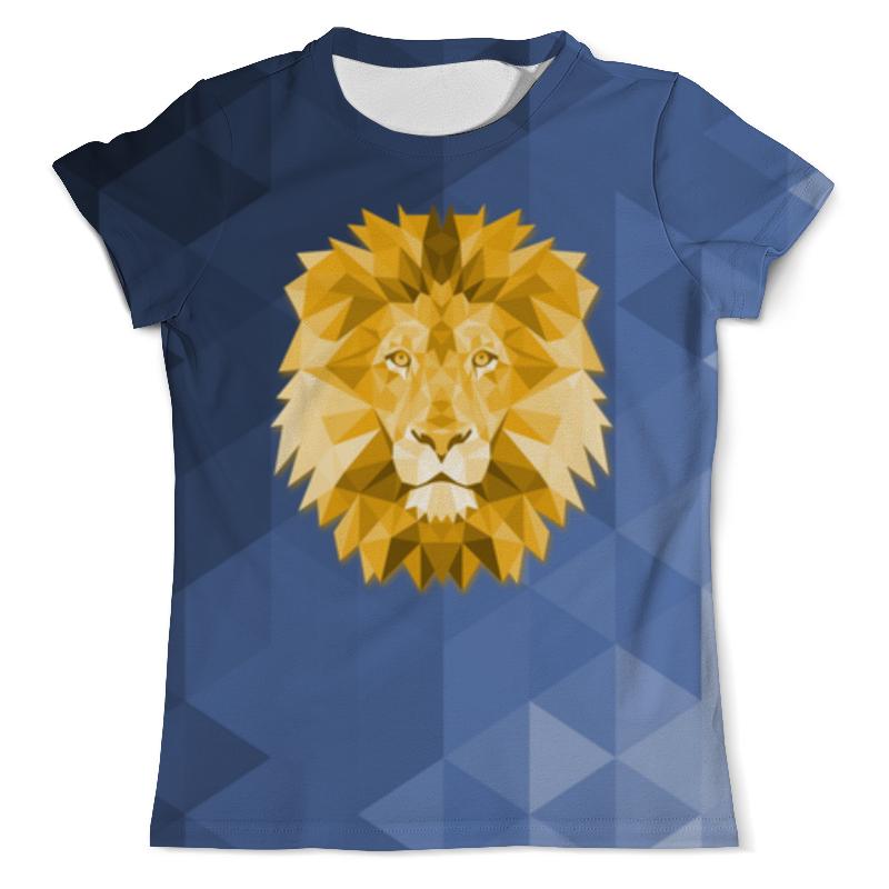 Футболка с полной запечаткой (мужская) Printio Полигональный лев футболка с полной запечаткой мужская printio полигональный тигр