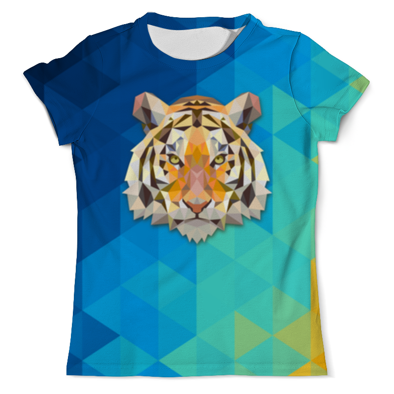 Футболка с полной запечаткой (мужская) Printio Полигональный тигр футболка с полной запечаткой мужская printio тигр и вода