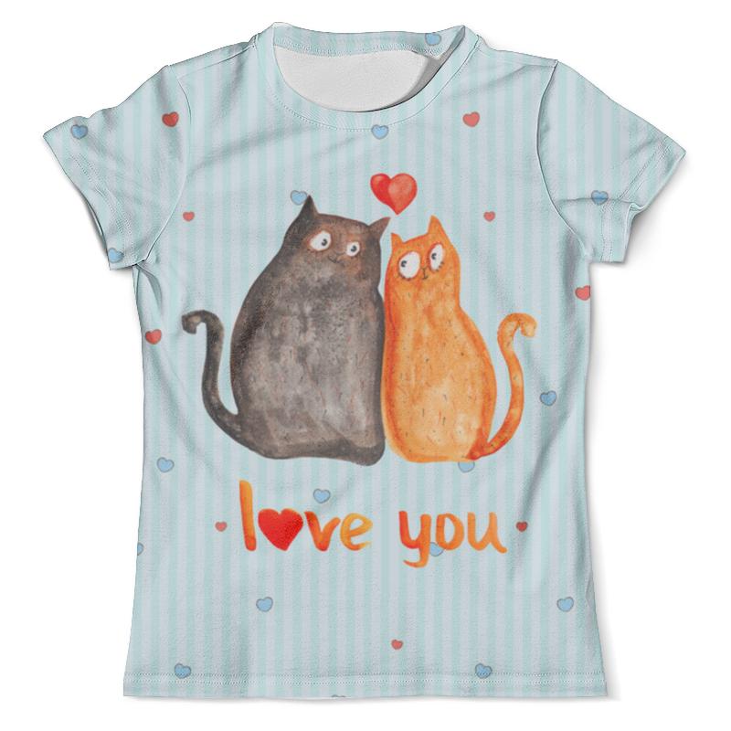 Футболка с полной запечаткой (мужская) Printio Влюбленные коты. парные футболки. футболка с полной запечаткой мужская printio влюбленные птички парные футболки