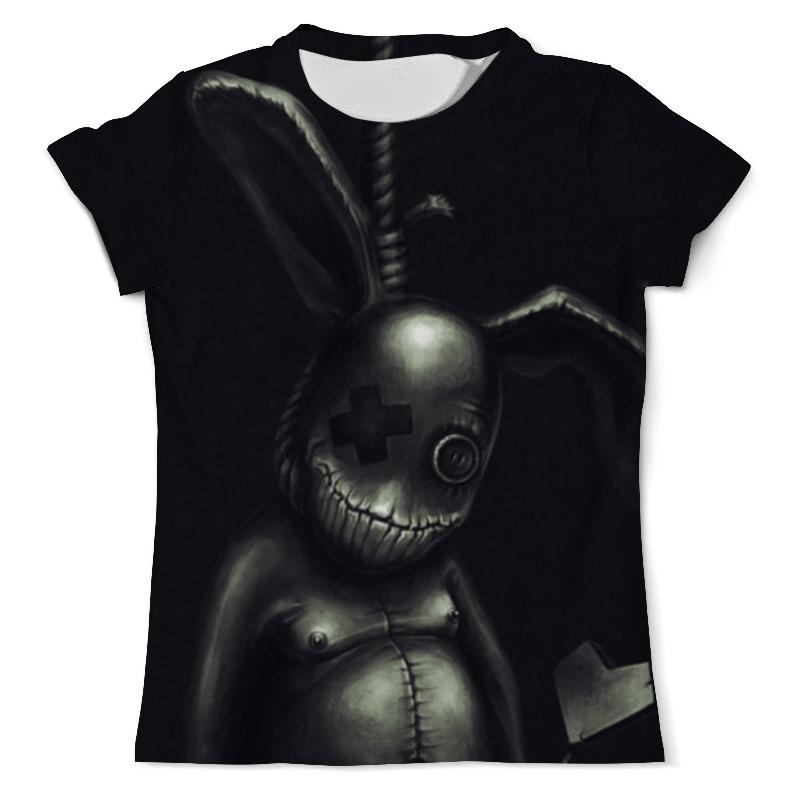Футболка с полной запечаткой (мужская) Printio Одноглазый кролик в петле цена
