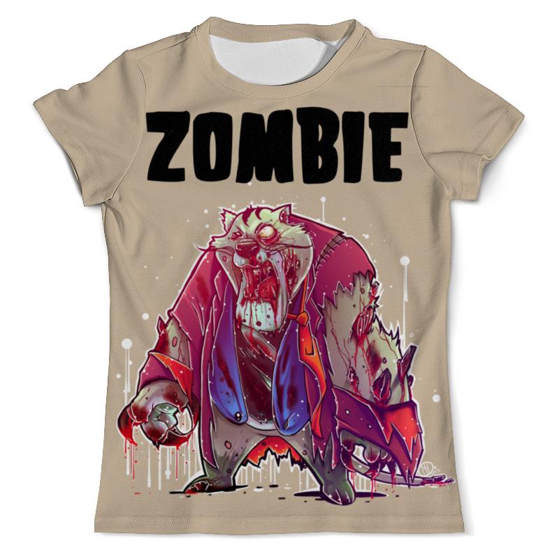 Футболка с полной запечаткой (мужская) Printio Zombie cat футболка с полной запечаткой мужская printio grumpy cat