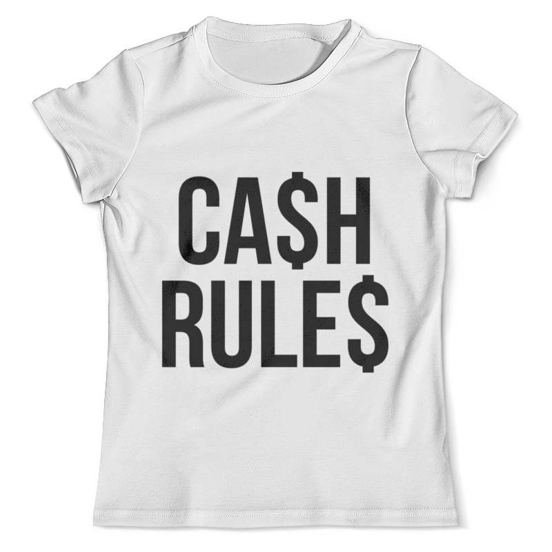 Футболка с полной запечаткой (мужская) Printio Cash rules economics rules