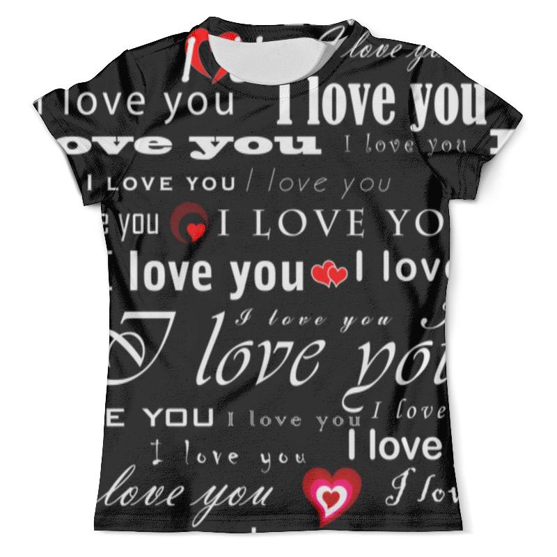 Футболка с полной запечаткой (мужская) Printio Love you футболка с полной запечаткой мужская printio all you need is love кошки на качелях