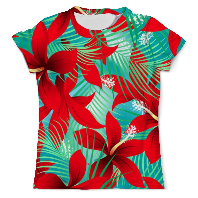 Printio Красные цветы футболка с полной запечаткой мужская printio красные краски