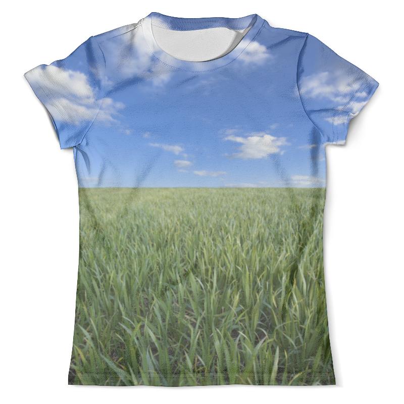 Футболка с полной запечаткой (мужская) Printio Поле летнее футболка с полной запечаткой мужская printio летнее солнцестояние эдвард роберт хьюз