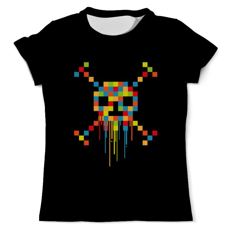 Printio Пиксельный череп футболка с полной запечаткой мужская printio пиксельный разрыв я в порядке