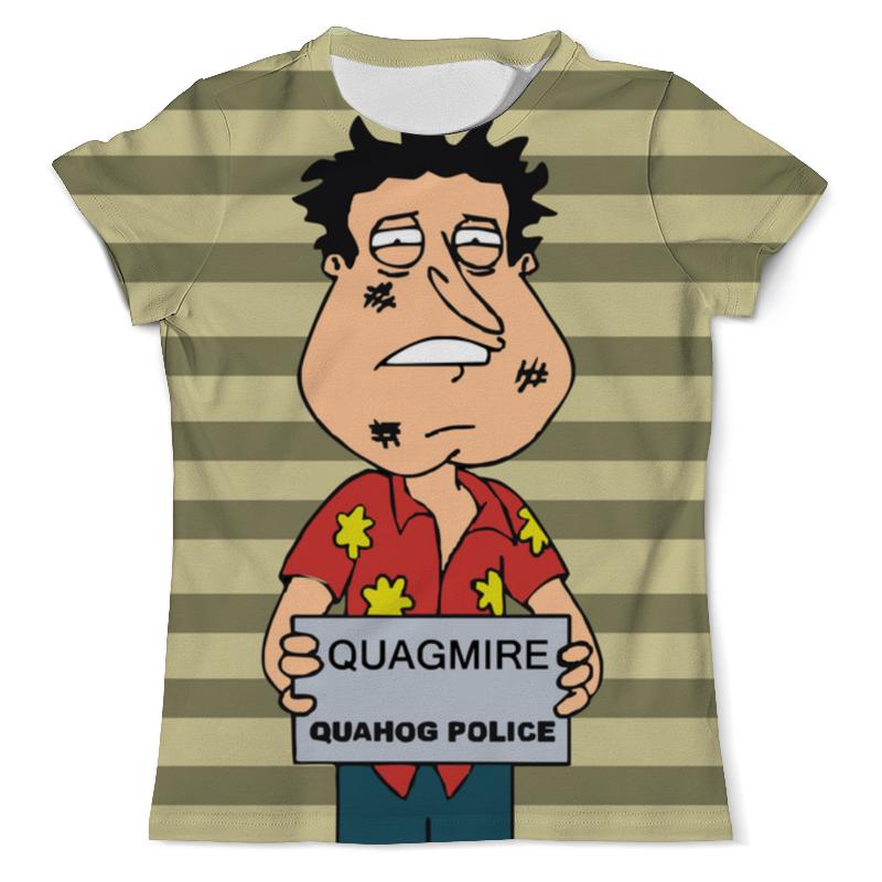 Футболка с полной запечаткой (мужская) Printio Quagmire quahog police футболка с полной запечаткой женская printio police