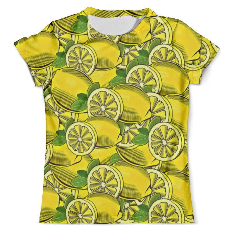 Футболка с полной запечаткой (мужская) Printio Лимон футболка с полной запечаткой мужская printio фрактальная эзотерика мандалы