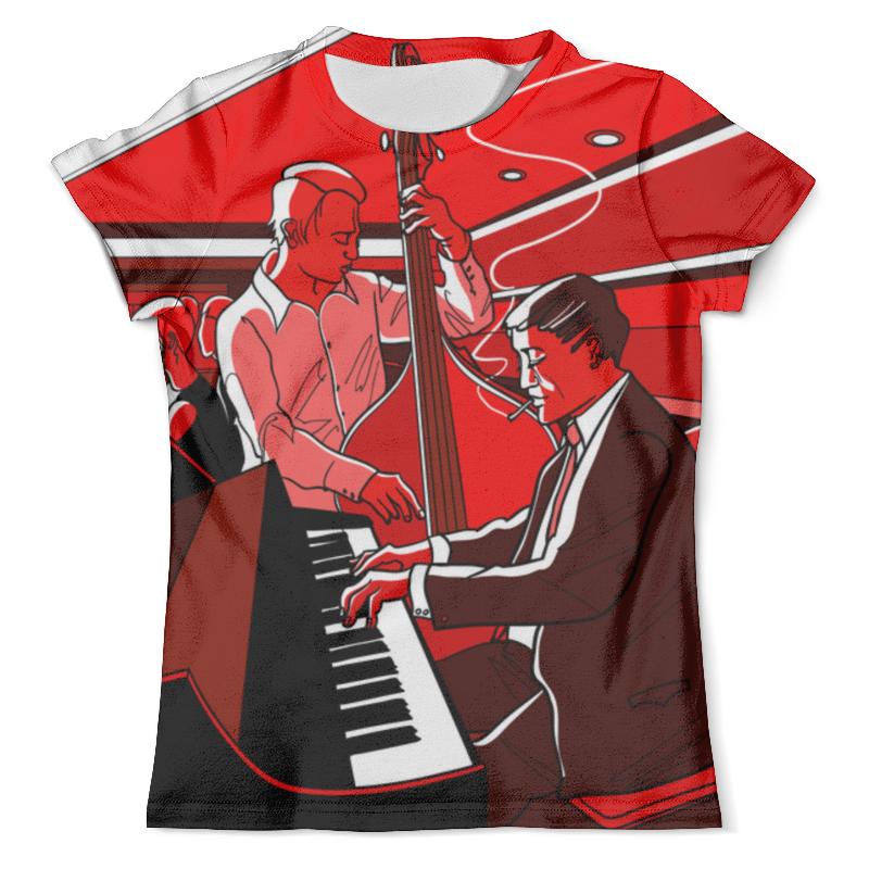 Футболка с полной запечаткой (мужская) Printio Jazz - 1 футболка с полной запечаткой мужская printio jazz trumpet saxophone