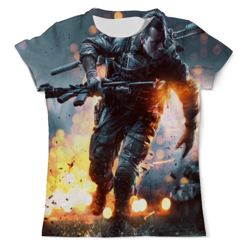 Футболка с полной запечаткой (мужская) Printio Battlefield 4 футболка с полной запечаткой для мальчиков printio battlefield