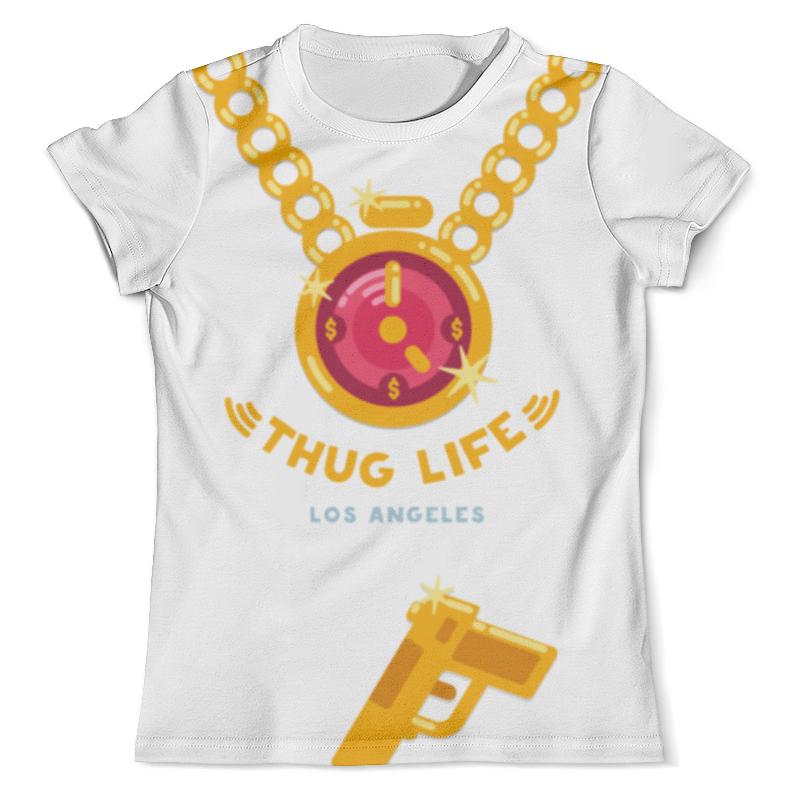 Футболка с полной запечаткой (мужская) Printio Thug life (los angeles) футболка с полной запечаткой для девочек printio пес летчик
