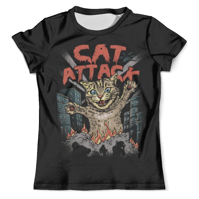 Футболка с полной запечаткой (мужская) Printio Cat attack футболка мужская bc 15 yt5817