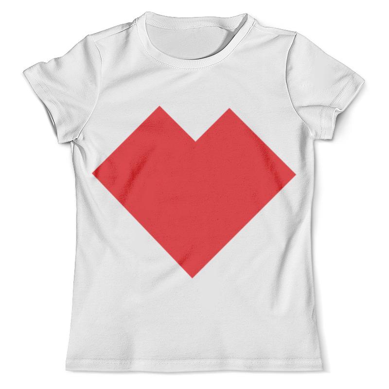 Футболка с полной запечаткой (мужская) Printio Красное сердце танграм стек красное сердце
