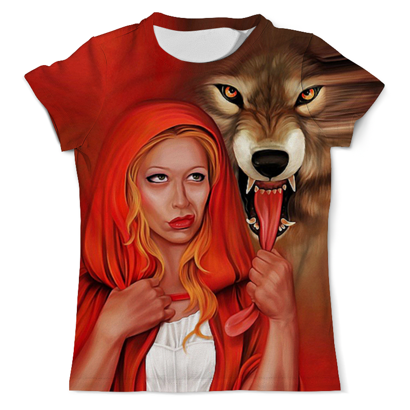 Футболка с полной запечаткой (мужская) Printio Красная шапочка и серый волк футболка с полной запечаткой мужская printio морской волк