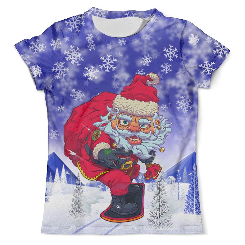 лучшая цена Printio Santa snowboard (с новым годом!)