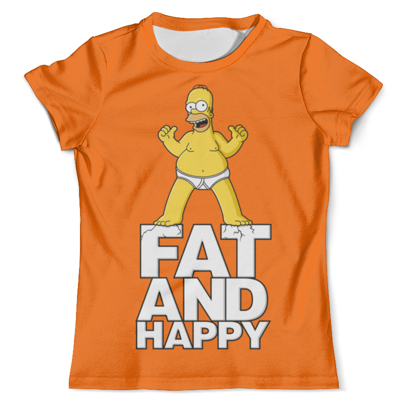 Футболка с полной запечаткой (мужская) Printio Гомер симпсон. толстый и счастливый футболка с полной запечаткой мужская printio гомер симпсон i am so smrt