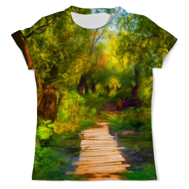 Printio Пейзаж красками футболка с полной запечаткой мужская printio эзотерика природы