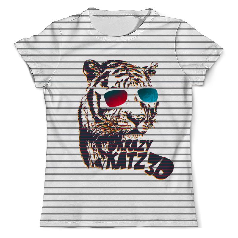 Футболка с полной запечаткой (мужская) Printio Тигр 3d футболка с полной запечаткой мужская printio одноглазый тигр