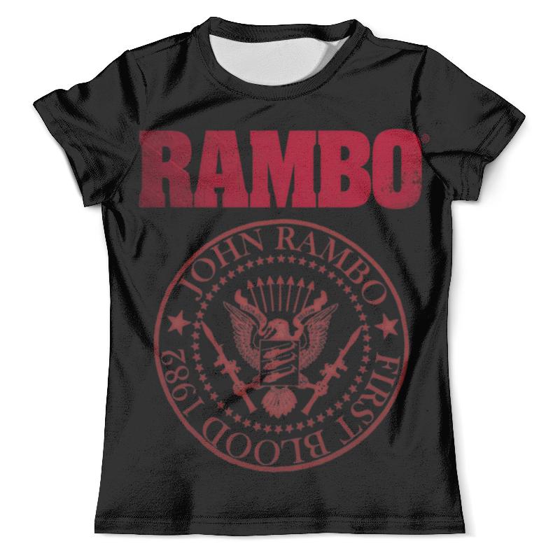 Футболка с полной запечаткой (мужская) Printio Rambo цена и фото