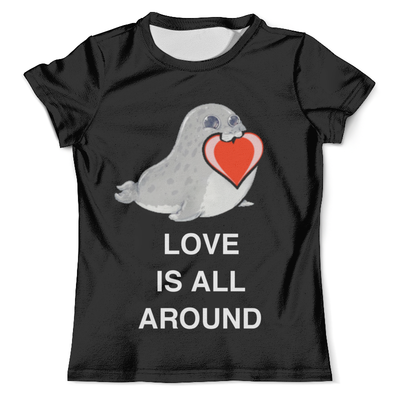 Футболка с полной запечаткой (мужская) Printio Love. тюлень. любовь. футболка с полной запечаткой мужская printio любовь моя религия