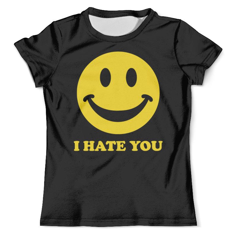 Футболка с полной запечаткой (мужская) Printio I hate you футболка i hate sport