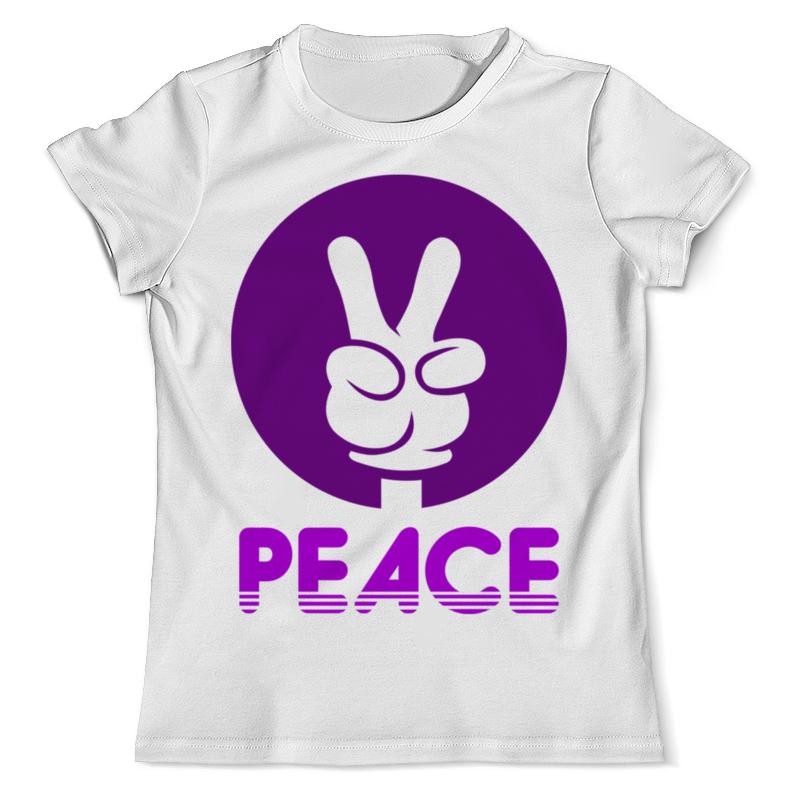 Футболка с полной запечаткой (мужская) Printio Мир ( peace ) футболка с полной запечаткой для девочек printio peace among worlds рик санчез