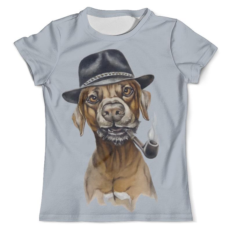 Футболка с полной запечаткой (мужская) Printio Пес с трубкой футболка с полной запечаткой мужская printio хипстер пес