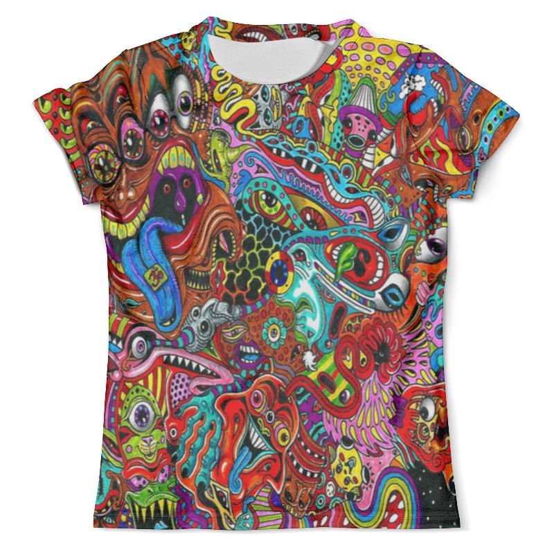 Футболка с полной запечаткой (мужская) Printio Разноцветная футболка эксмо волшебная футболка в которой сбываются мечты цвет белый размер s 44