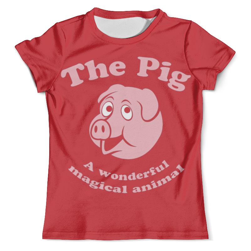 Футболка с полной запечаткой (мужская) Printio The pig футболка pig basic slimfit brown