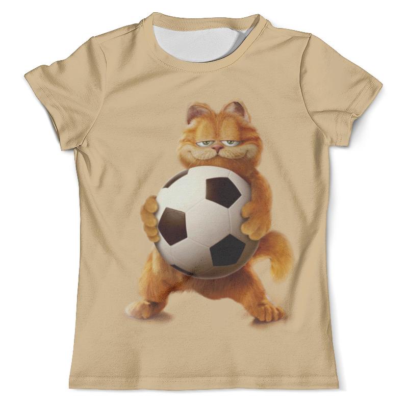 Футболка с полной запечаткой (мужская) Printio Гарфилд футболист (1) футболка с полной запечаткой мужская printio футболист