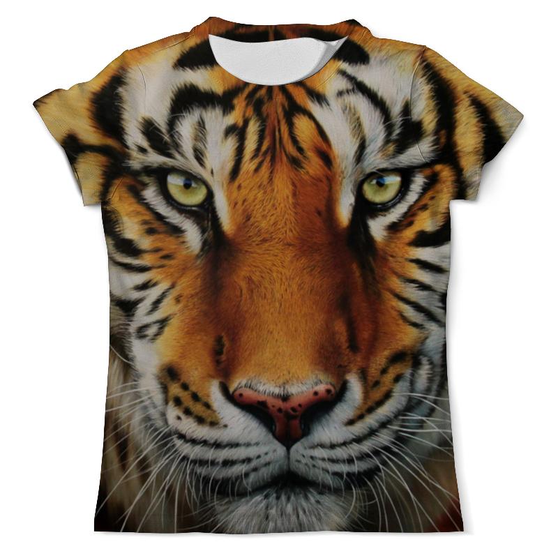 Футболка с полной запечаткой (мужская) Printio Тигр. футболка с полной запечаткой мужская printio одноглазый тигр