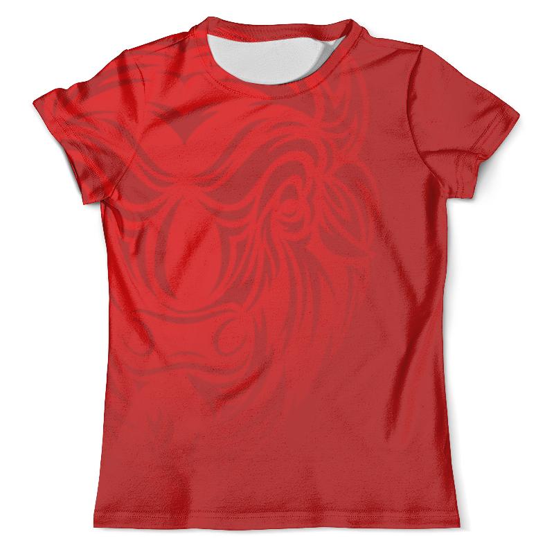 Футболка с полной запечаткой (мужская) Printio Огненный бизон футболка с полной запечаткой мужская printio огненный дракон
