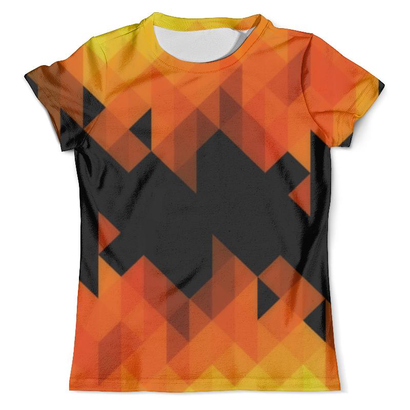 Футболка с полной запечаткой (мужская) Printio Triangle orange футболка с полной запечаткой женская printio colorfull triangle