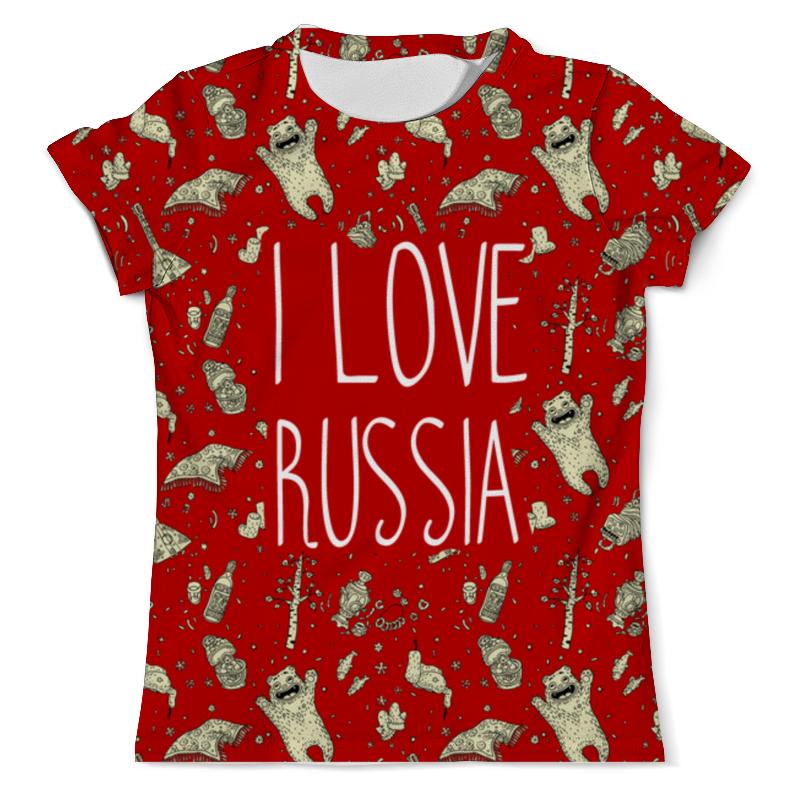 Футболка с полной запечаткой (мужская) Printio I love russia (я люблю россию)