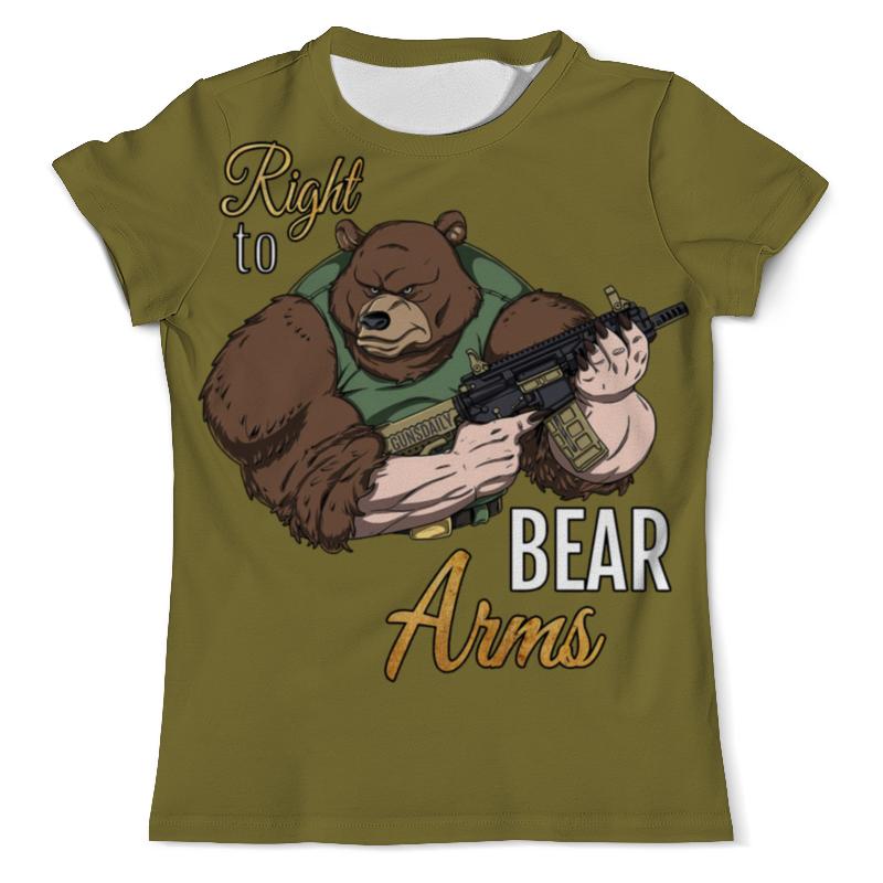 Футболка с полной запечаткой (мужская) Printio Bear arms