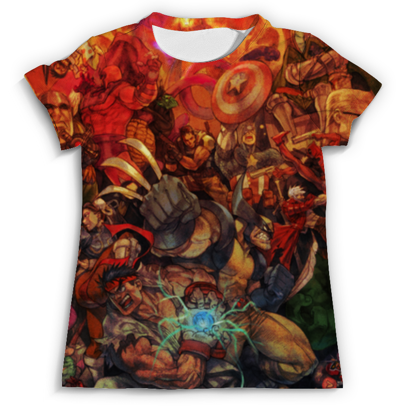 Футболка с полной запечаткой (мужская) Printio Marvel art футболка с полной запечаткой printio мексика