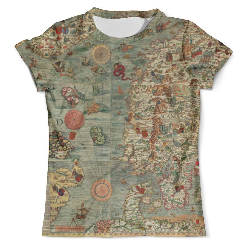 Футболка с полной запечаткой (мужская) Printio Old map футболка с полной запечаткой мужская printio old map page 3