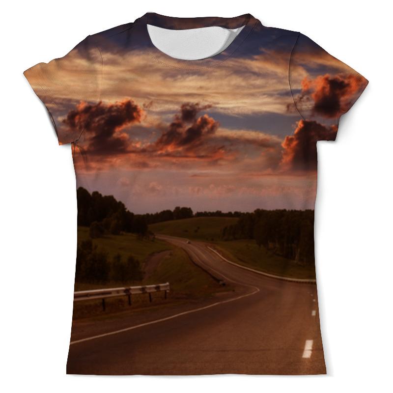 Фото - Футболка с полной запечаткой (мужская) Printio Дорога на закате футболка с полной запечаткой мужская printio ночная дорога