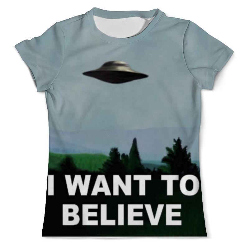 Футболка с полной запечаткой (мужская) Printio I want to believe футболка с полной запечаткой женская printio i believe in unicorns я верю в единорогов