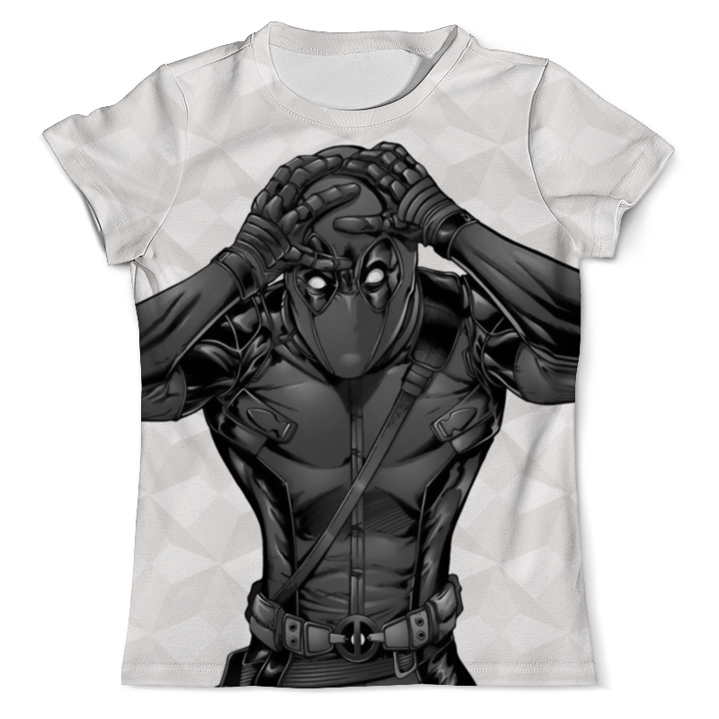 Фото - Футболка с полной запечаткой (мужская) Printio Deadpool black - white чехол для iphone 5 глянцевый с полной запечаткой printio deadpool vs punisher