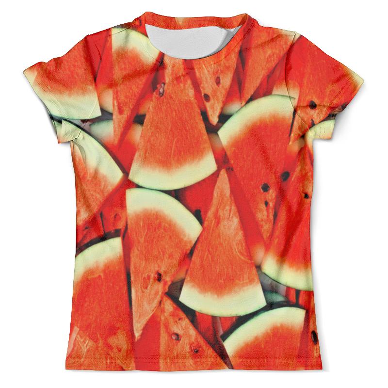 Футболка с полной запечаткой (мужская) Printio Сочный арбуз рубашка поло с полной запечаткой printio сочный арбуз